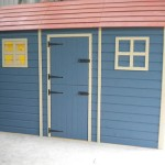 Blue Timber Shed
