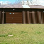 Garden Shed Large Brown