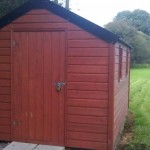 Timber Shed with galvanised roof